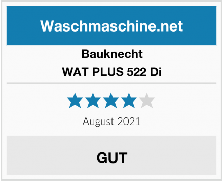 Bauknecht WAT PLUS 522 Di Test