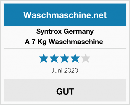 Syntrox Germany A 7 Kg Waschmaschine  Test