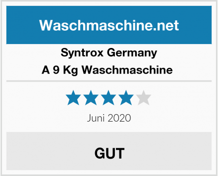 Syntrox Germany A 9 Kg Waschmaschine  Test