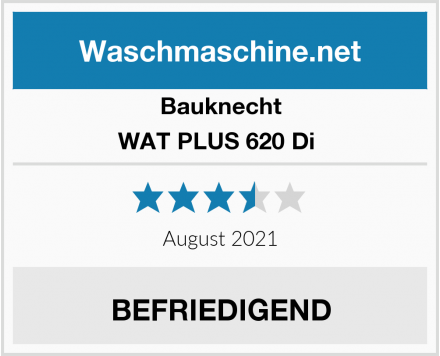 Bauknecht WAT PLUS 620 Di  Test