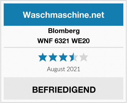 Blomberg WNF 6321 WE20 Test