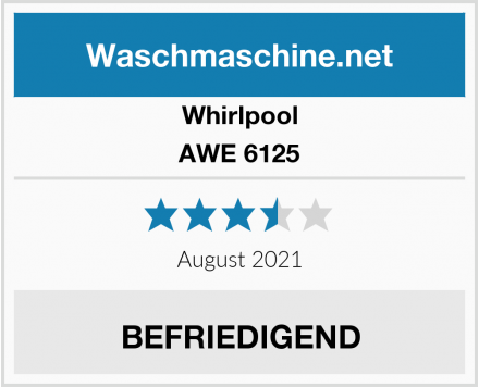 Whirlpool AWE 6125 Test