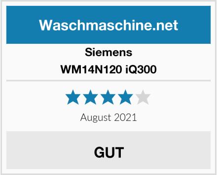 Siemens WM14N120 iQ300 Test