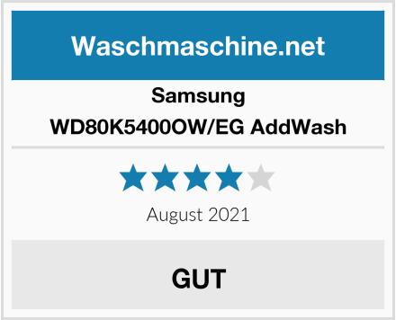 Samsung WD80K5400OW/EG AddWash Test