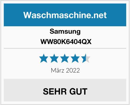 Samsung  WW80K6404QX Test