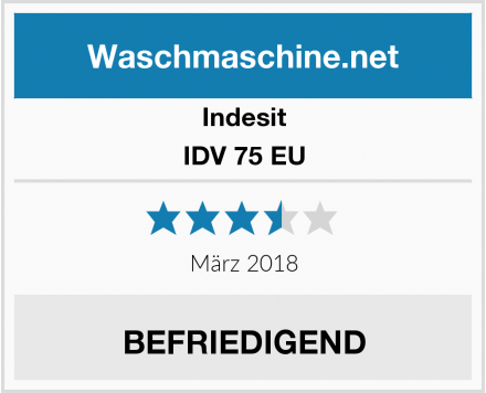 Indesit IDV 75 EU Test