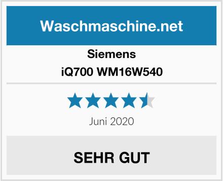 Siemens iQ700 WM16W540 Test