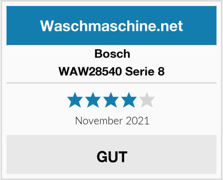 Bosch WAW28540 Serie 8 Test