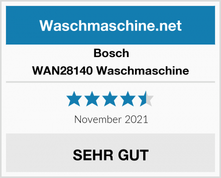 Bosch WAN28140 Waschmaschine Test