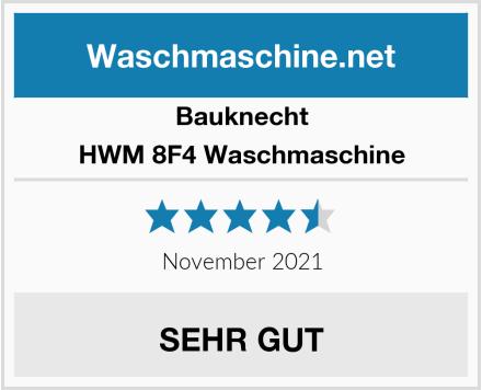 Bauknecht HWM 8F4 Waschmaschine Test