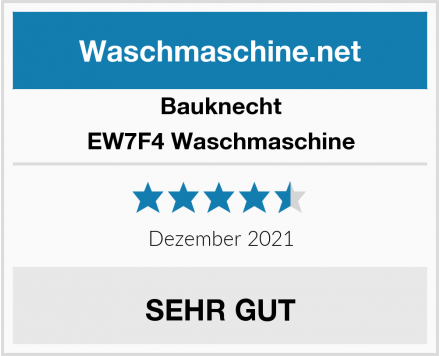 Bauknecht EW7F4 Waschmaschine Test