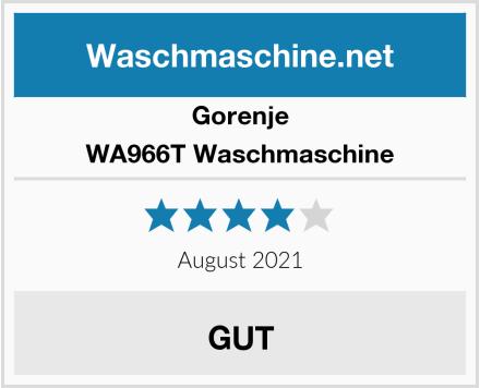 Gorenje WA966T Waschmaschine Test
