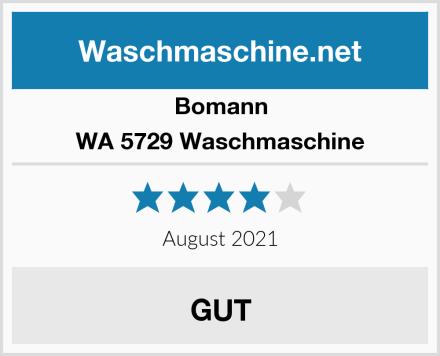 Bomann WA 5729 Waschmaschine Test