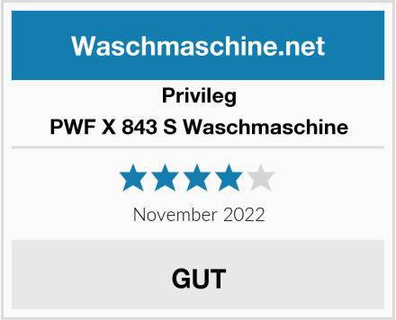 Privileg PWF X 843 S Waschmaschine Test