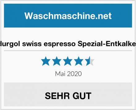 durgol swiss espresso Spezial-Entkalker Test