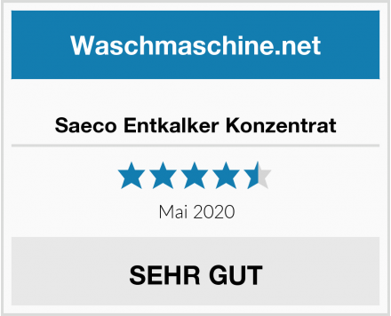 No Name Saeco Entkalker Konzentrat Test