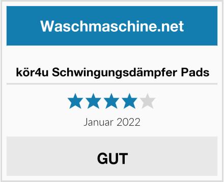 No Name kör4u Schwingungsdämpfer Pads Test