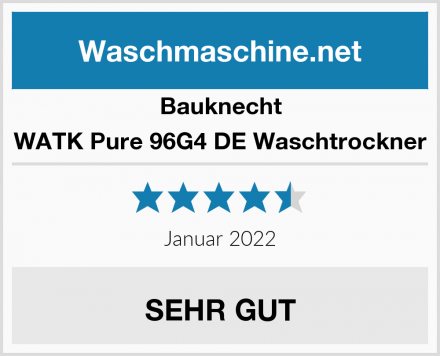 Bauknecht WATK Pure 96G4 DE Waschtrockner Test