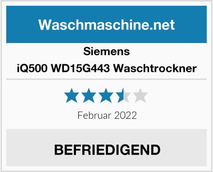 Siemens iQ500 WD15G443 Waschtrockner Test