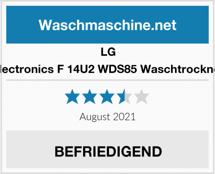 LG Electronics F 14U2 WDS85 Waschtrockner Test