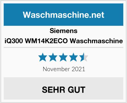 Siemens iQ300 WM14K2ECO Waschmaschine Test