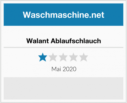 No Name Walant Ablaufschlauch Test