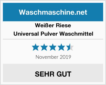 Weißer Riese Universal Pulver Waschmittel Test