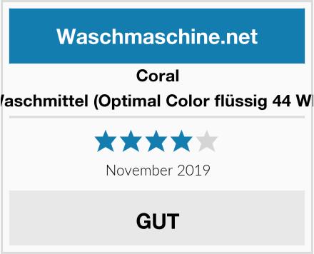 Coral Waschmittel (Optimal Color flüssig 44 WL) Test