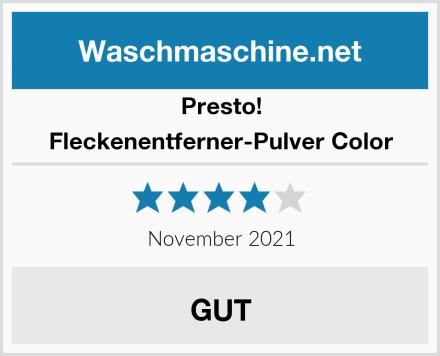 Presto! Fleckenentferner-Pulver Color Test