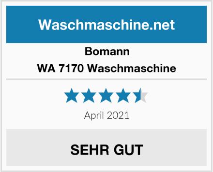 Bomann WA 7170 Waschmaschine Test