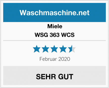 Miele WSG 363 WCS Test