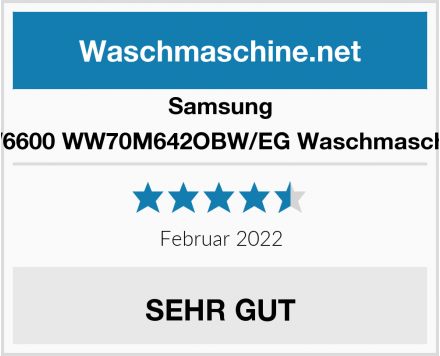 Samsung WW6600 WW70M642OBW/EG Waschmaschine Test