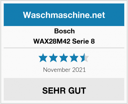 Bosch WAX28M42 Serie 8 Test