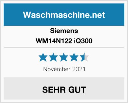 Siemens WM14N122 iQ300 Test