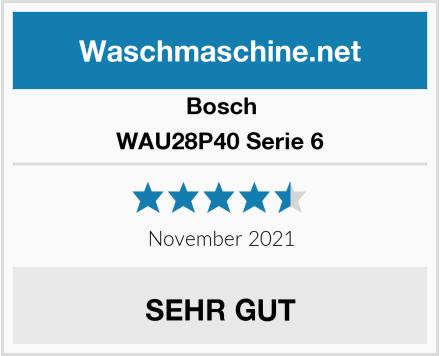 Bosch WAU28P40 Serie 6 Test