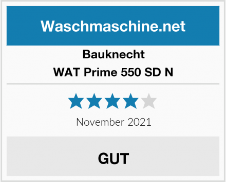 Bauknecht WAT Prime 550 SD N Test