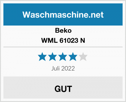 Beko WML 61023 N Test