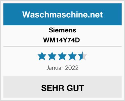 Siemens WM14Y74D  Test
