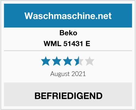 Beko WML 51431 E  Test