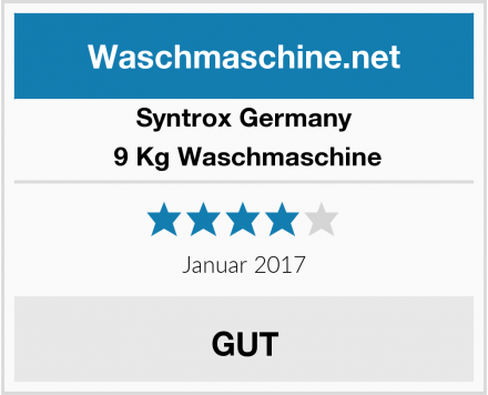 Syntrox Germany  9 Kg Waschmaschine Test