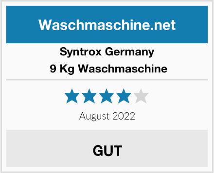 Syntrox Germany  9 Kg Waschmaschine Test