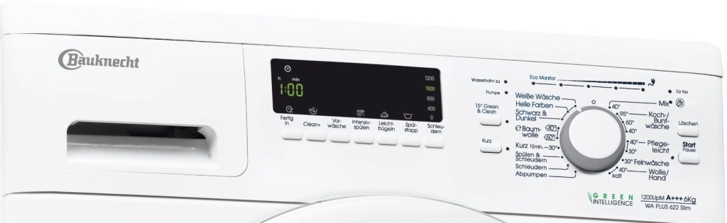 bauknecht wa plus 622 slim waschmaschinen test 2018. Black Bedroom Furniture Sets. Home Design Ideas