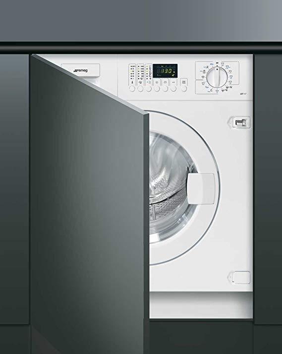 SMEG Einbau-Waschmaschine in Weiß LST147